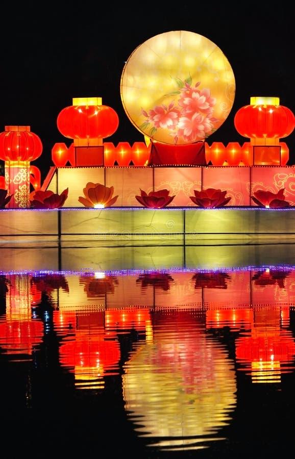 latarniowa festiwal księżyc zdjęcie stock