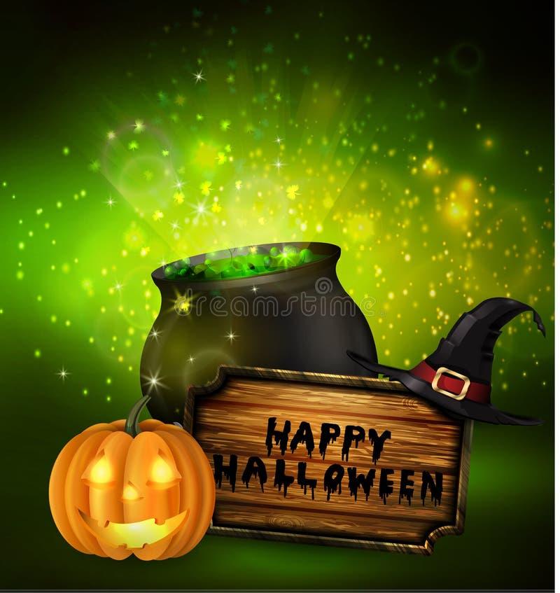 Latarniowa Jack straszna bania O Halloween royalty ilustracja