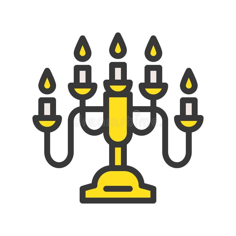 Latarniowa lub lampowa wektorowa ikona, wypełniający stylowy editable uderzenie ilustracja wektor