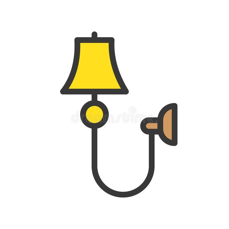 Latarniowa lub lampowa wektorowa ikona, wypełniający stylowy editable uderzenie royalty ilustracja
