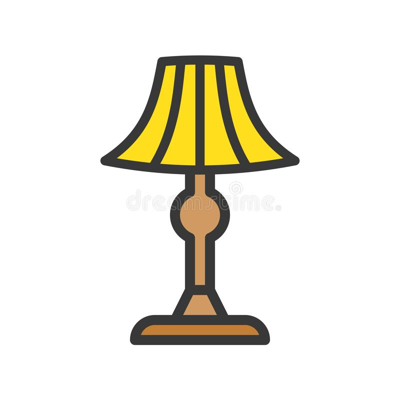 Latarniowa lub lampowa wektorowa ikona, wypełniający stylowy editable uderzenie ilustracji