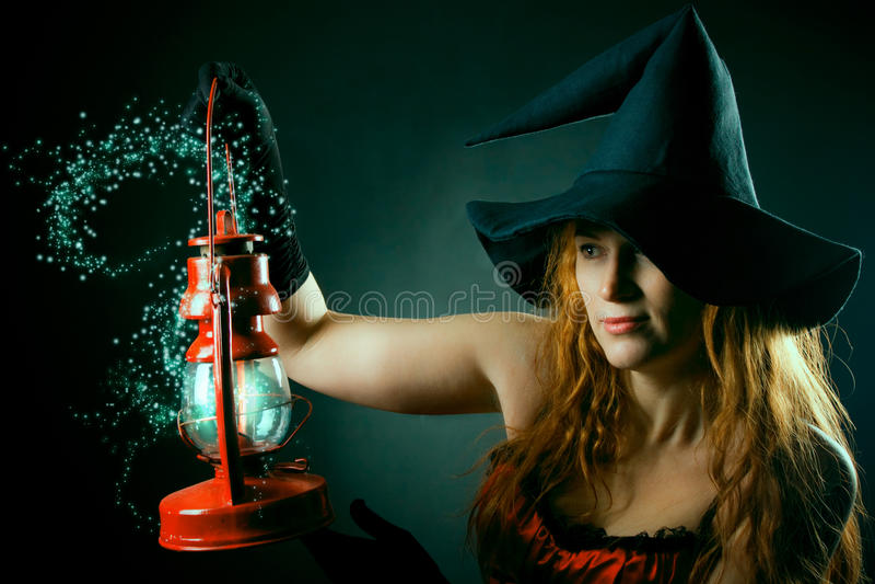 latarniowa magiczna czarownica zdjęcie stock