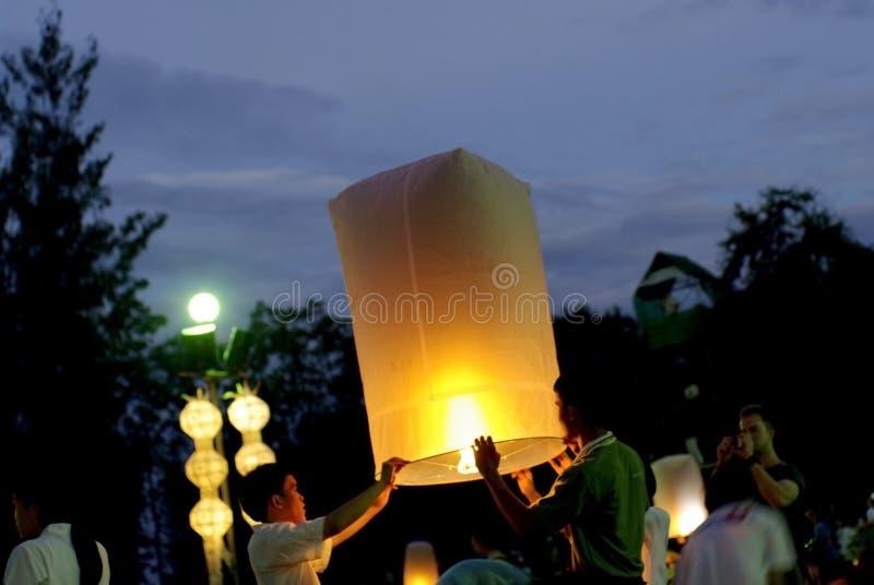 Latarniowy festiwal Thailand obraz stock