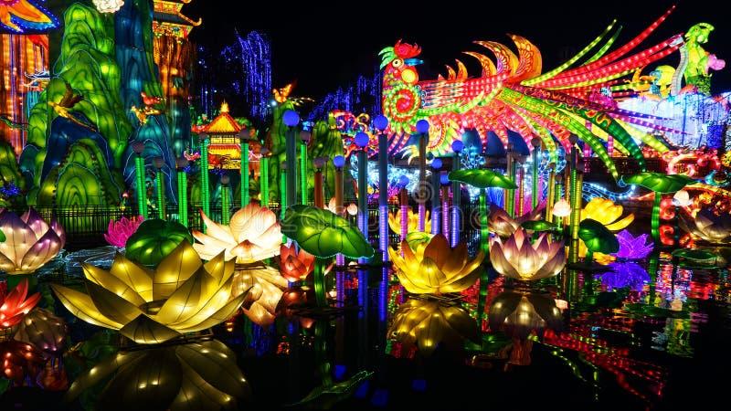 Latarniowy festiwal w Zigongï ¼ Œ Sichuan obraz royalty free