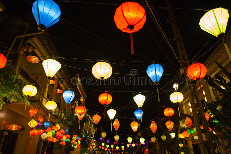 Latarniowy Vietnam obraz stock