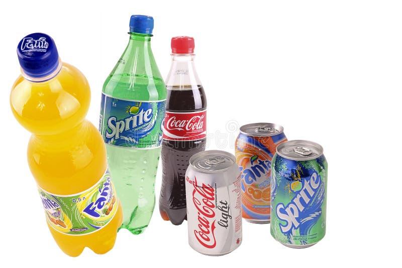 Latas com bebidas imagens de stock royalty free