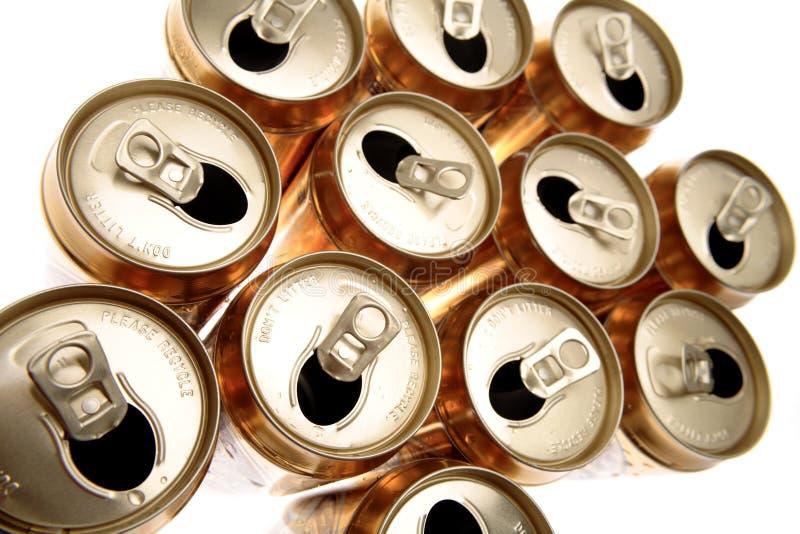 Latas da bebida imagem de stock