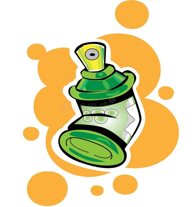 Latas de aerosol stock de ilustración