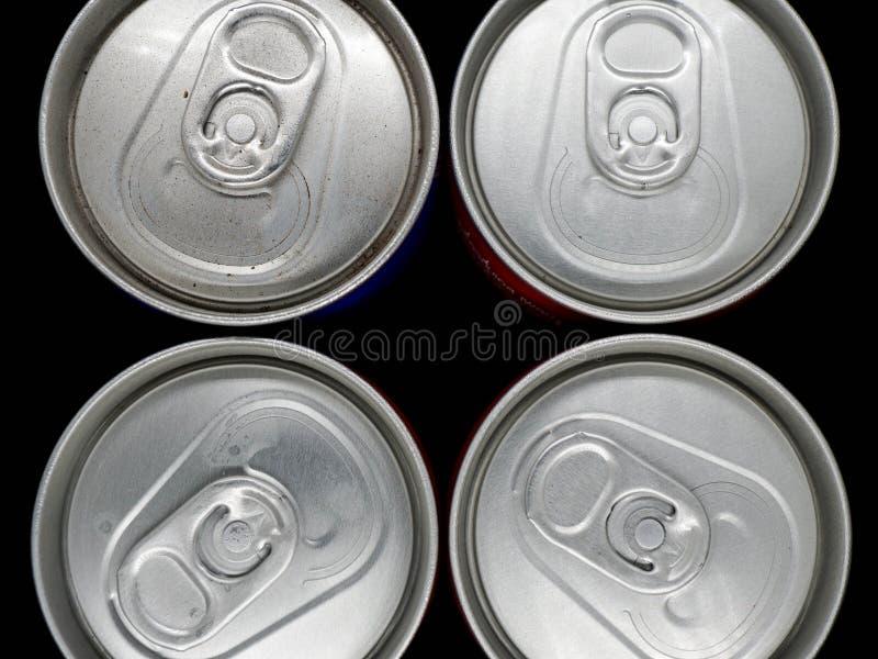 Latas de alum?nio imagem de stock
