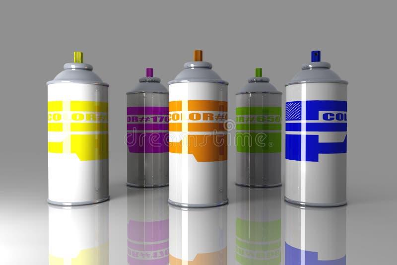 Latas del aerosol del color libre illustration