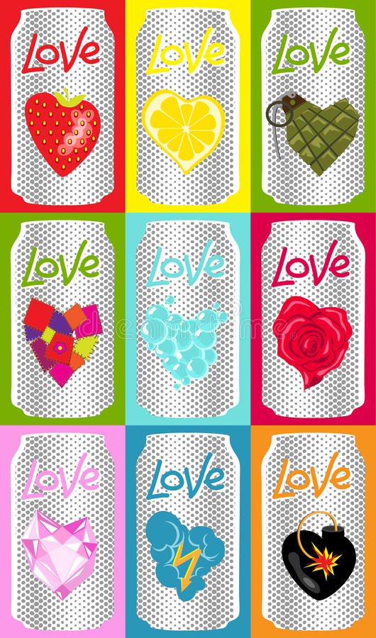 latas do amor ilustração royalty free
