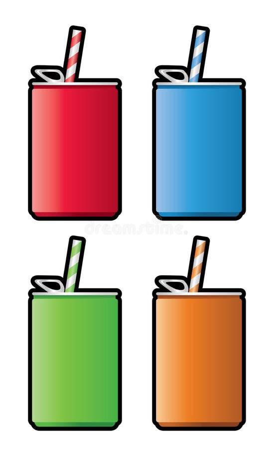 Latas do refresco ilustração stock
