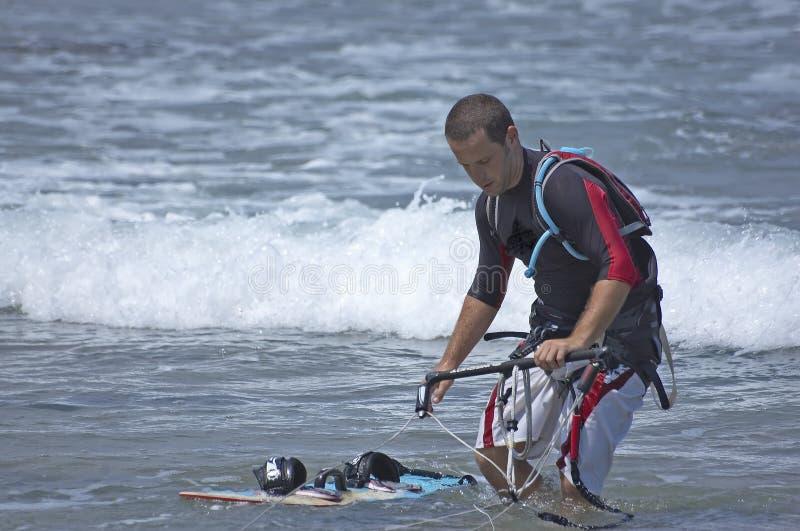 latawiec surfera zdjęcia stock