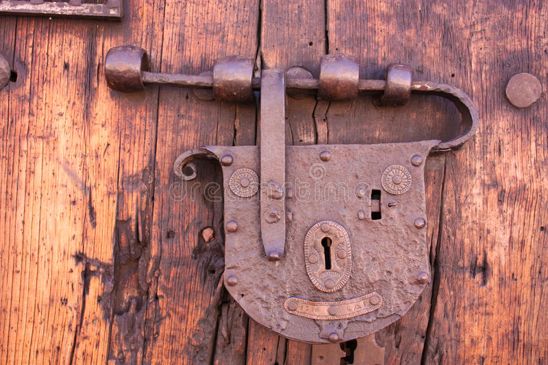 Latch or lock old stock image