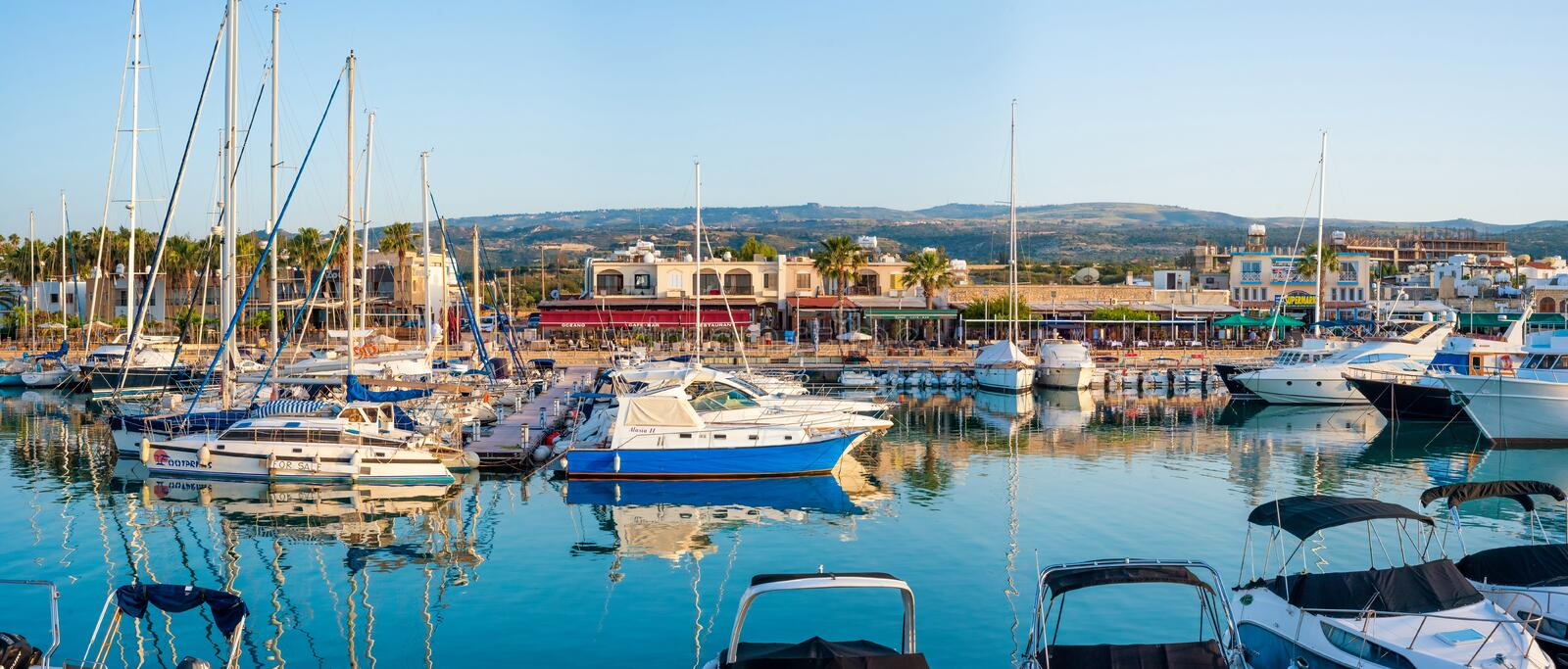 LATCHI - MAY 19 : Yachts in harbor in harbour on May 19, 2015 in royalty free stock photo