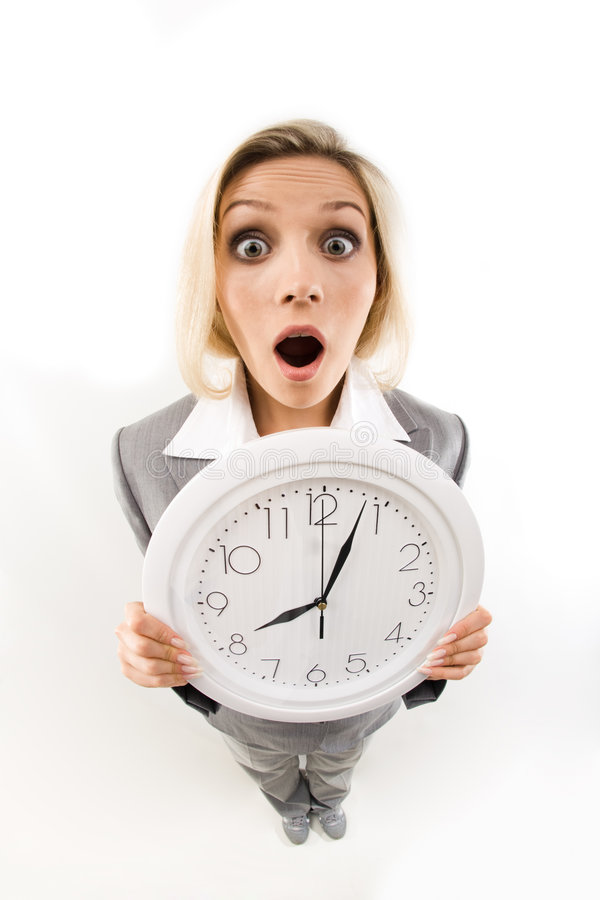 It is late! stock image