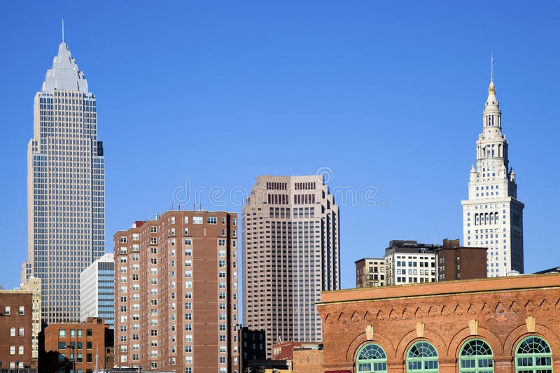 Late afternoon in downtown Cleveland royalty free stock photography