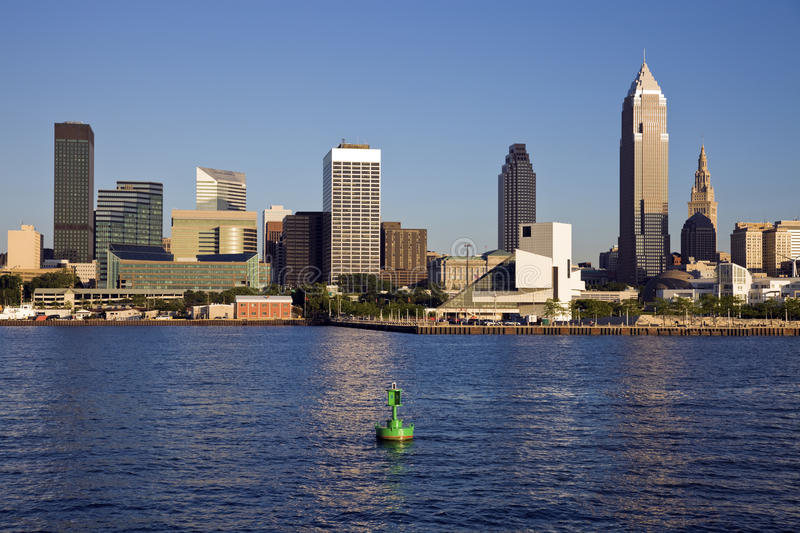 Late afternoon in downtown Cleveland stock images