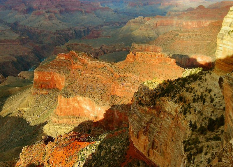 Late Afternoon Light, Grand Canyon stock image