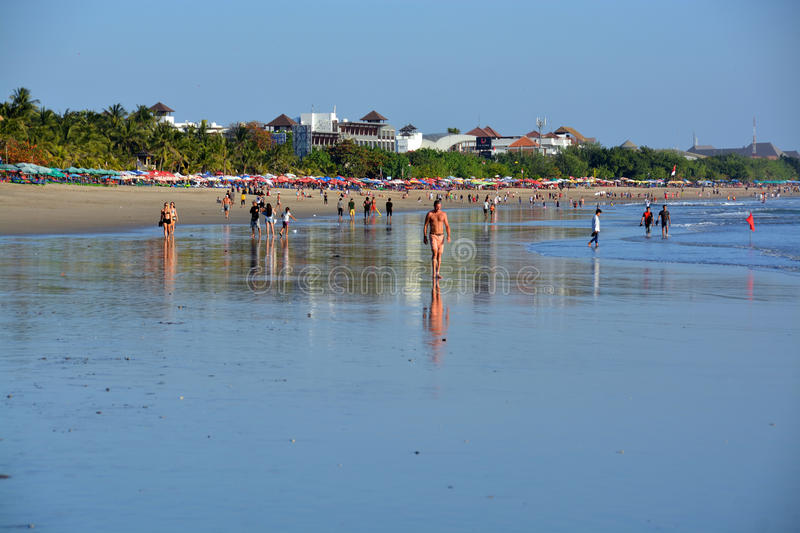 Late Afternoon at Low Tide on Legian Beach, Bali royalty free stock photography