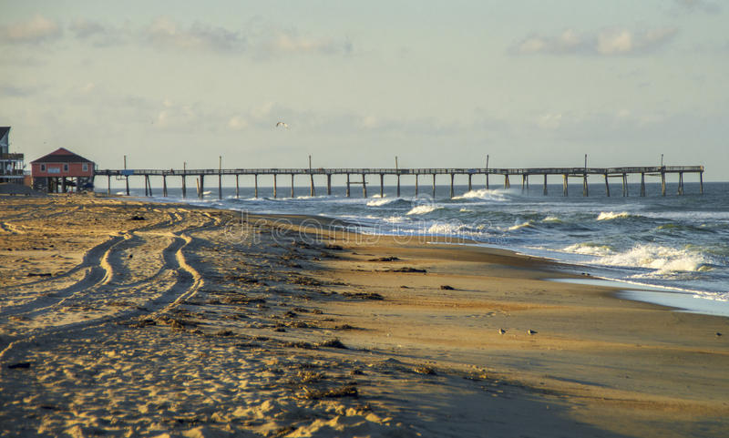 Late Afternoon on the Outer Banks. The sun slowly approaches setting on the Outer Banks in Rodanthe ,North Carolina royalty free stock photography