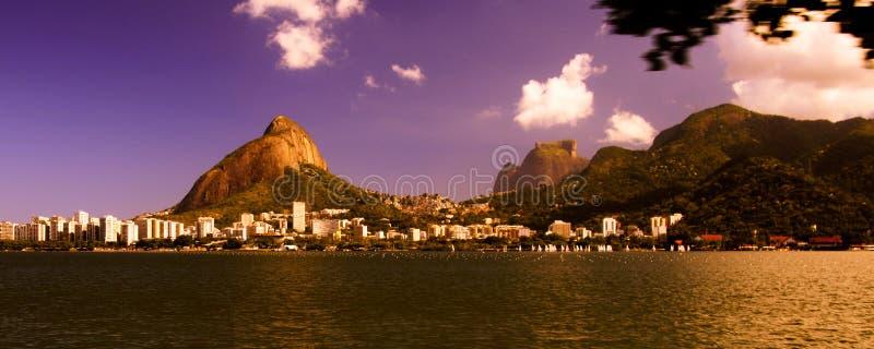 Download Colorful Sky Over Lagoa Rodrigo De Freitas Stock Photo - Image: 2412570