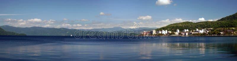 Late Afternoon Scene Lake Toya Toyako Hokkaido Japan royalty free stock photo