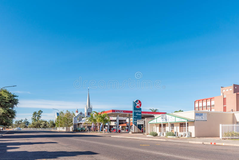 Late afternoon street scene in Upington royalty free stock photography