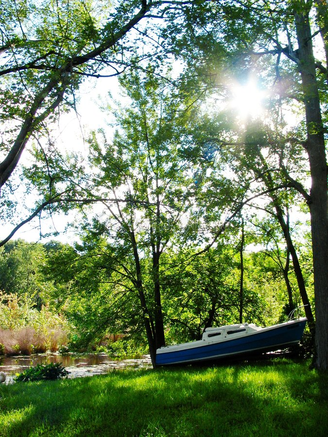 Download A Late Afternoon in Summer stock image. Image of summer, boat - 9847
