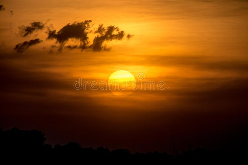 Late Afternoon Sun and Clouds - April 10th, 2013 stock photo
