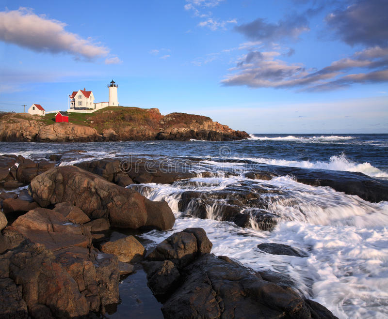 Nubble Light Afternoon royalty free stock image
