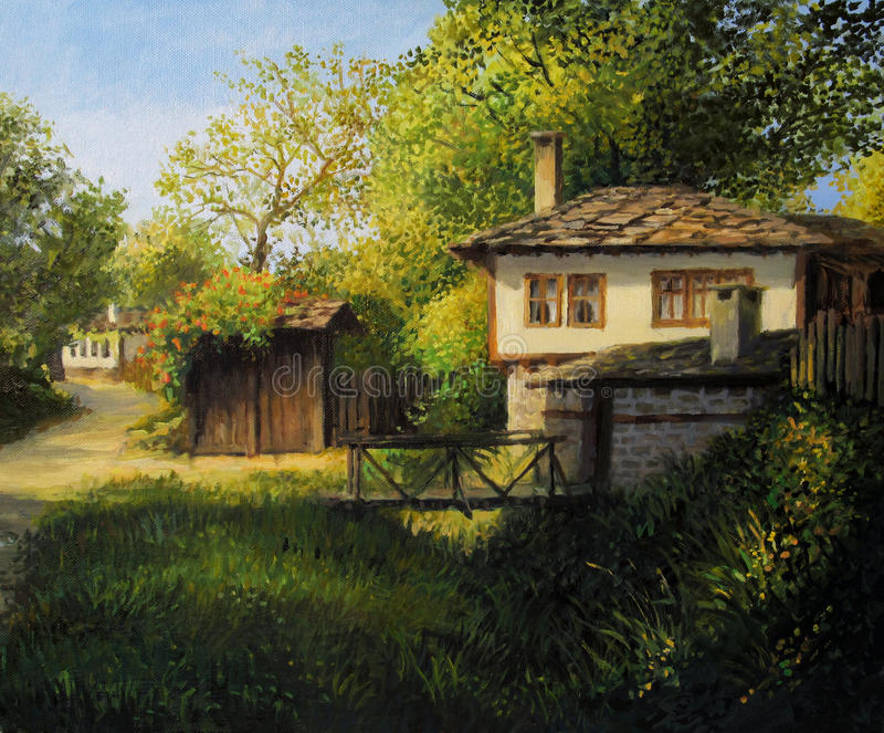 Late Afternoon in Village Bojenci royalty free stock photography