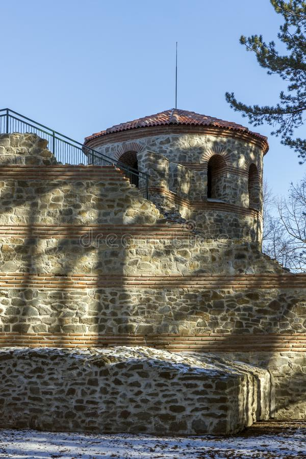 A late antique fortress The Hisarlaka in Town of Kyustendil, Bulgaria stock photos
