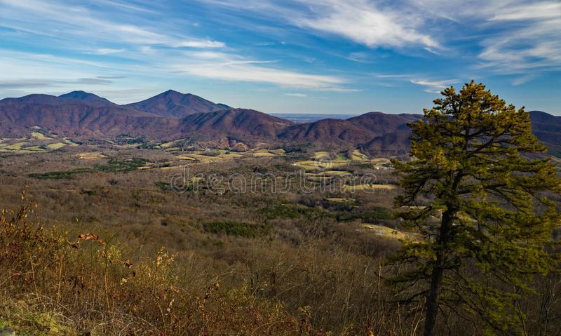 Late Autumn View of Goose Creek Valley and the Blue Ridge Mountains. A late autumn eastern view of Goose Creek Valley and the Blue Ridge Mountains located in stock photo