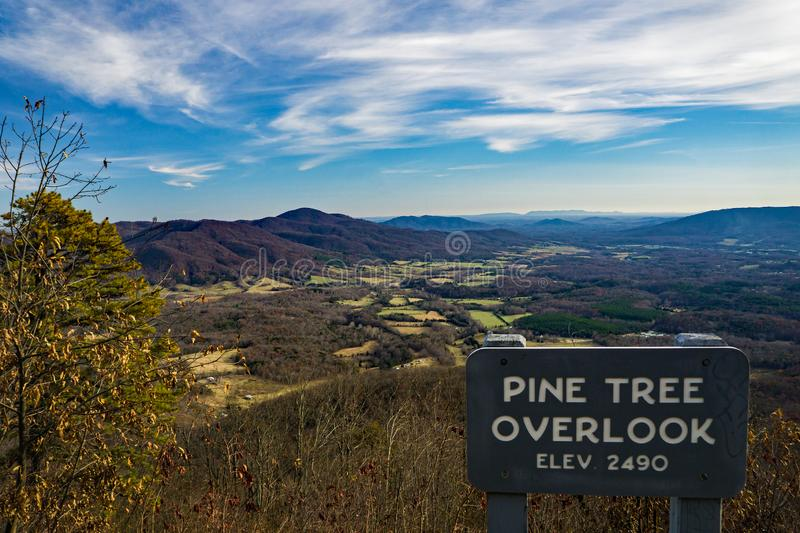 Late Autumn View from the Pine Tree Overlook stock images