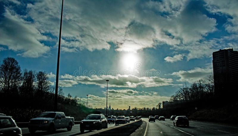 Late Day Sun On The Don Valley Parkway royalty free stock photos