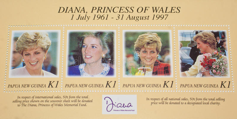 Late Diana,Princess of Wales commemorated. royalty free stock photos