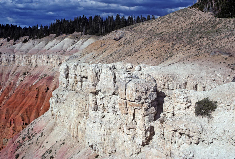 Late evening at Cedar Breaks National Monument stock photo