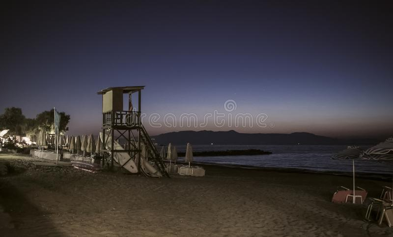 Evening on a Beach royalty free stock images