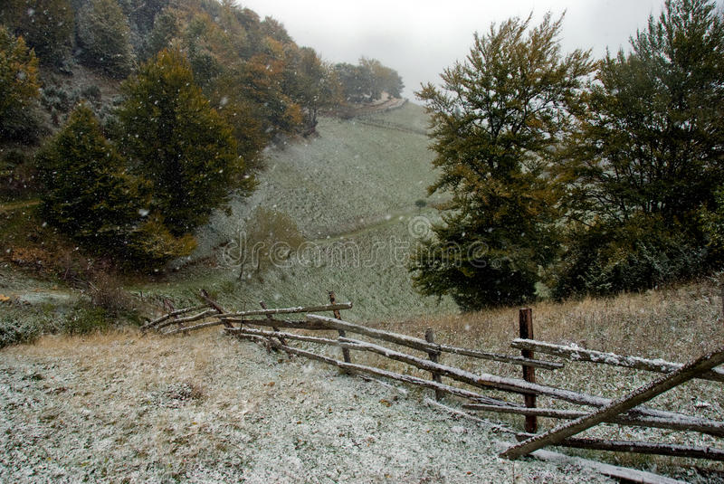 Download Late fall stock image. Image of landscape, first, bench - 16747761