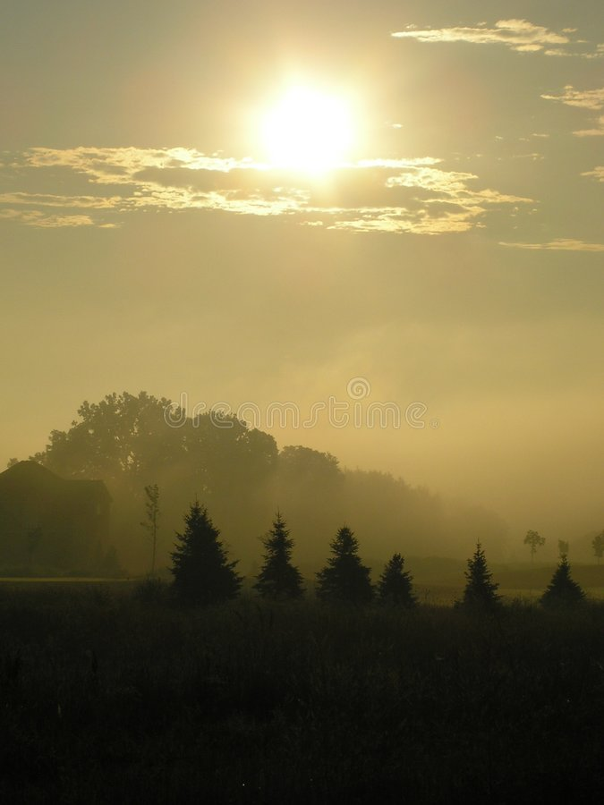 Download Late Foggy Sunrise Stock Image - Image: 176751