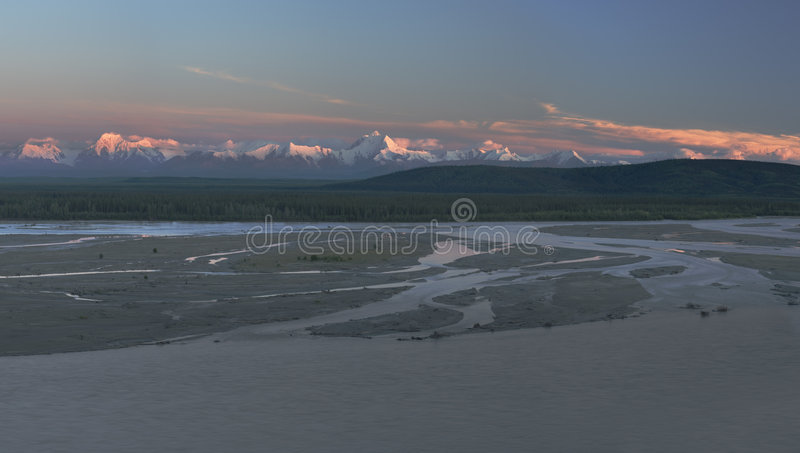 Late light panorama stock photography