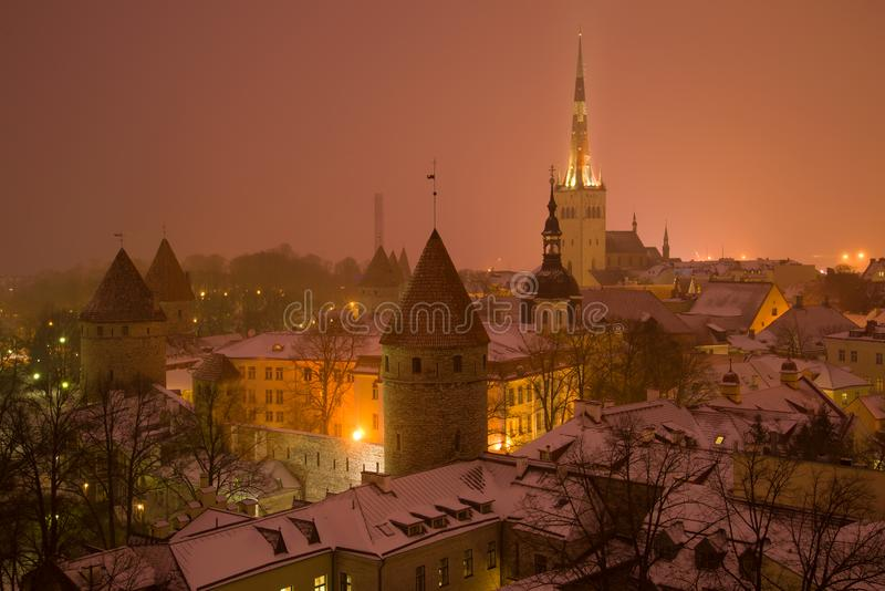 Late March evening in the old town. Tallinn, Estonia. Late March evening in the old town. Tallinn. Estonia royalty free stock photos