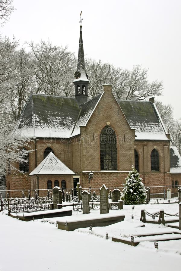 Late medieval church in wintertime the Netherlands