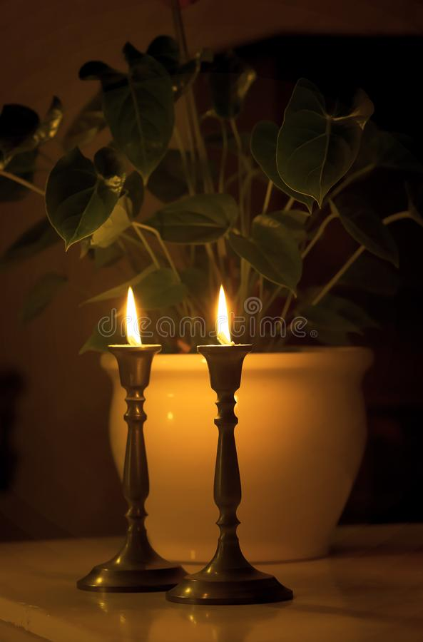Late night candles royalty free stock photos