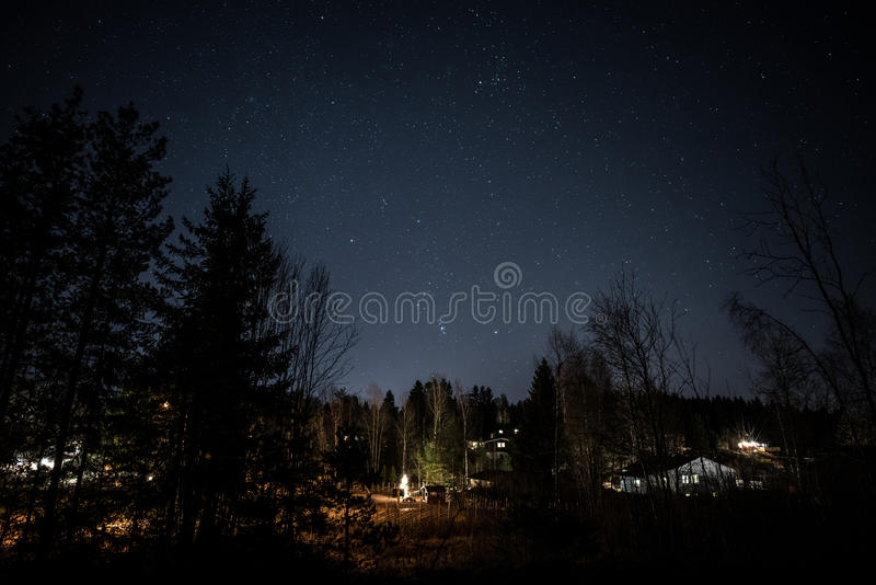 Late Night in Norway stock images