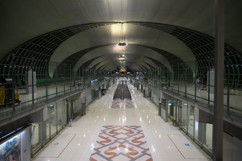 Late night at Suvarnabhumi airport royalty free stock photo