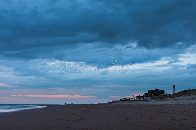 Download Late Night View Of The North Sea At Egmond Aan Zee Stock Image - Image: 25492255