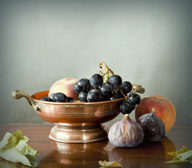 Download Late Summer Fruits In A Copper Bowl Stock Photo - Image: 26778608