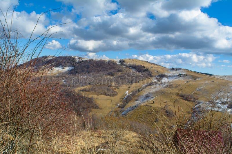 Late winter landscape stock photos